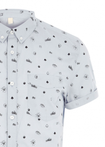 dapper monkey skull shirt